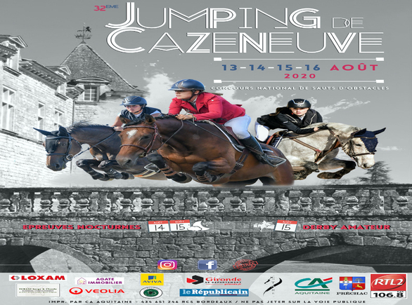 Jumping National Pro 2 de Cazeneuve du 13 au 16 Août 2020